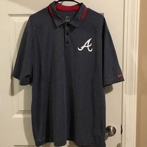Atlanta Braves Nike Dri-Fit Polo Shirt
